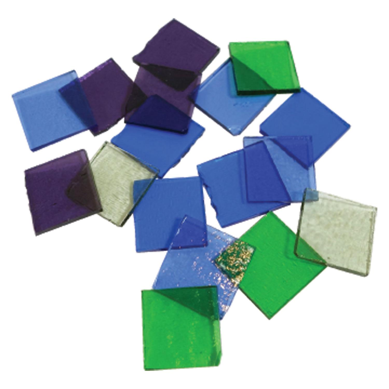 Fuseworks Cool Colors Squares 18 Piece Assortment - 90 COE