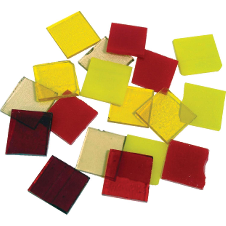 Fuseworks Warm Colors 1 Squares 18 Piece Assortment - 90 COE