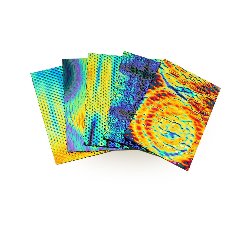 1/4 lb DichroMagic Wissmach Tie Dye Patterns Dichroic Scrap On Thin Black - 90 COE