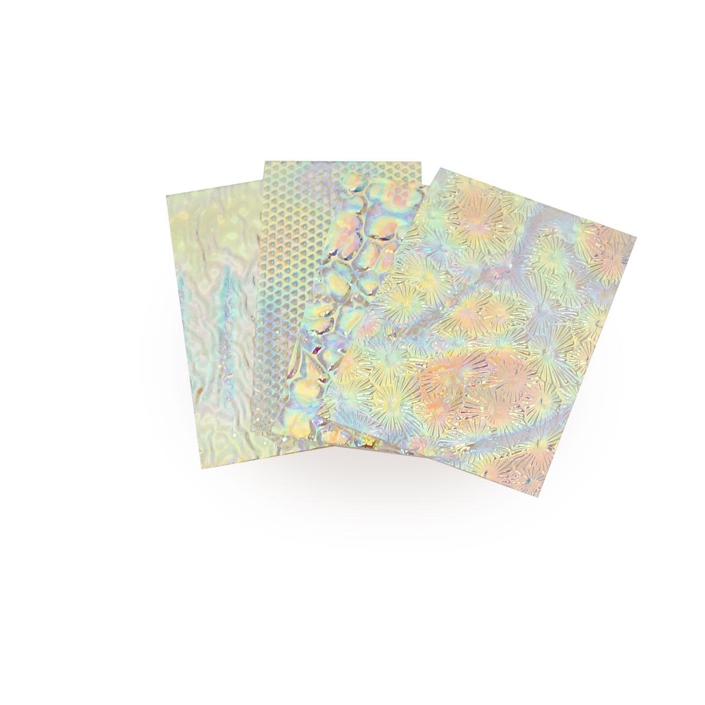 1/4 Lb DichroMagic Tie Dye Scrap On Wissmach Thin Clear Textures - 96 COE