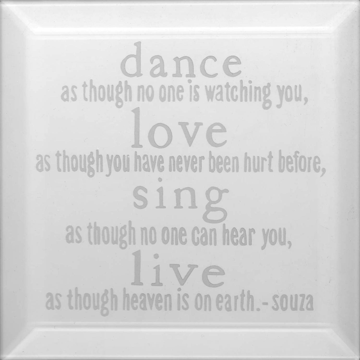 Delphi Studio Dance Love Sing Live Engraved Bevel