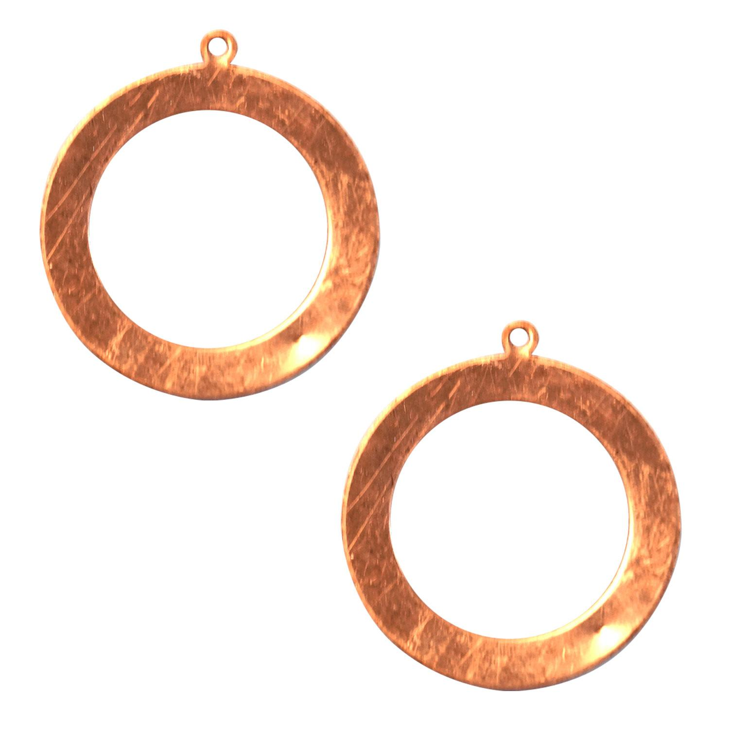 Round Hoop Copper Shape with Tab - 2 Pack
