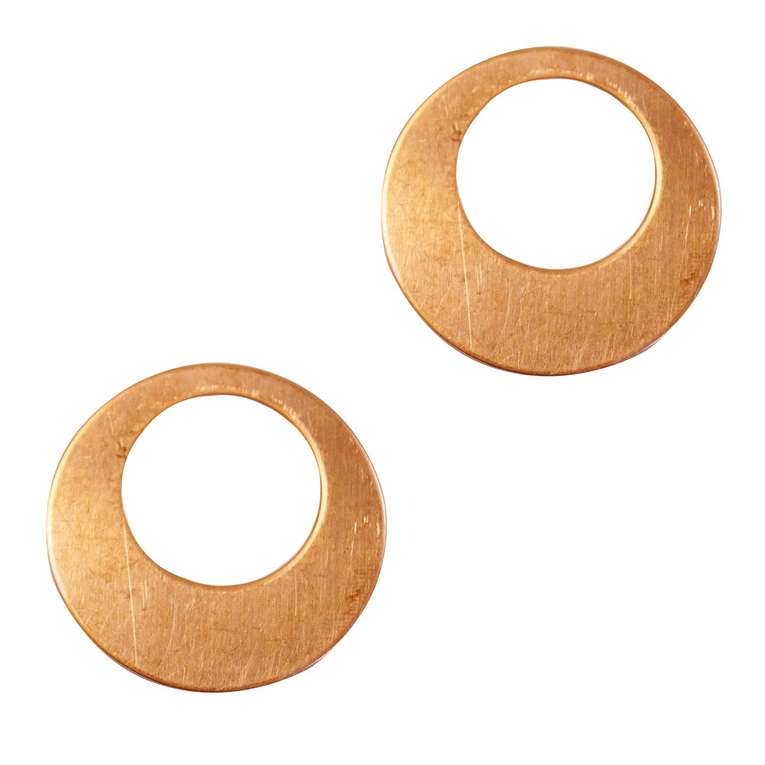 Round Offset Hoop Copper Shape - 2 Pack
