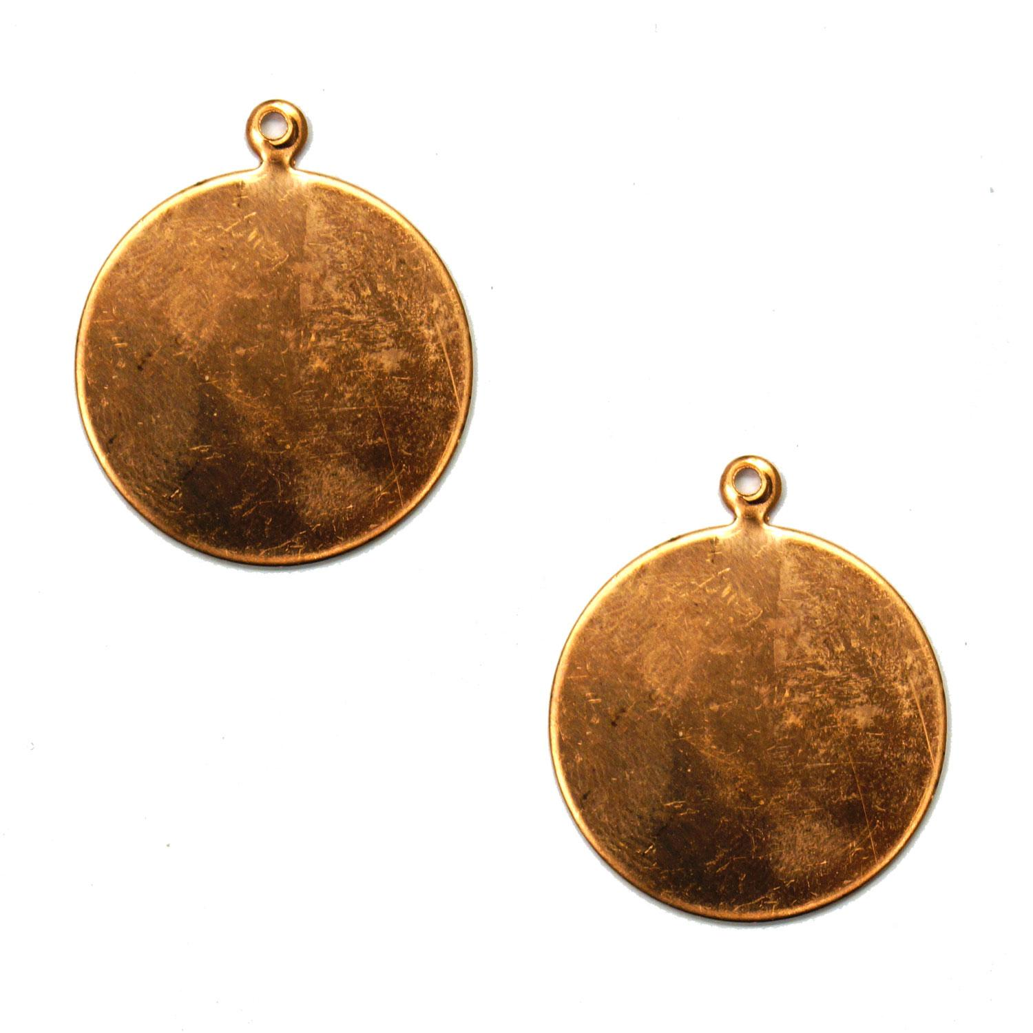 Round Copper Shape with Tab - 2 Pack