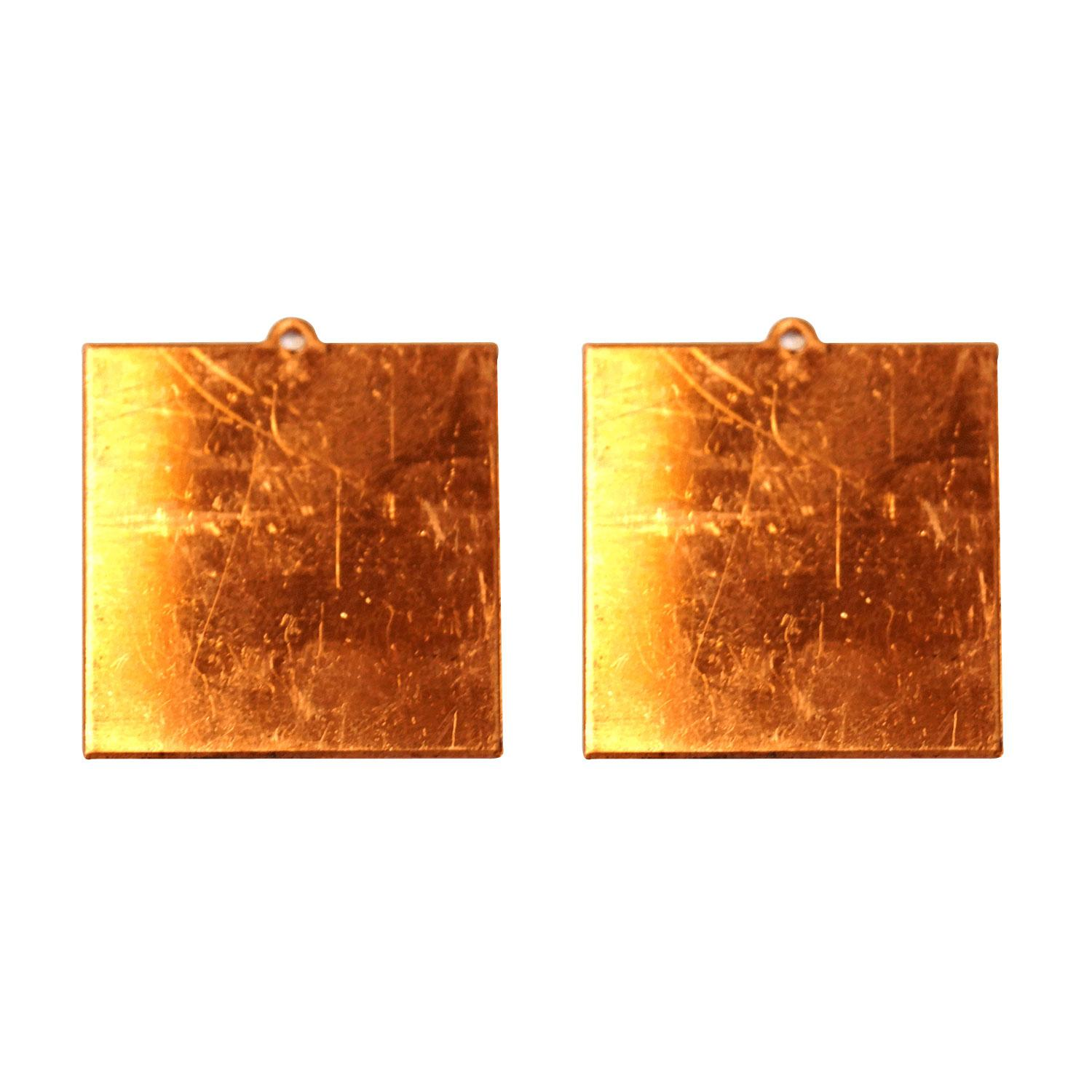Square Copper Shape With Tab - 2 Pack
