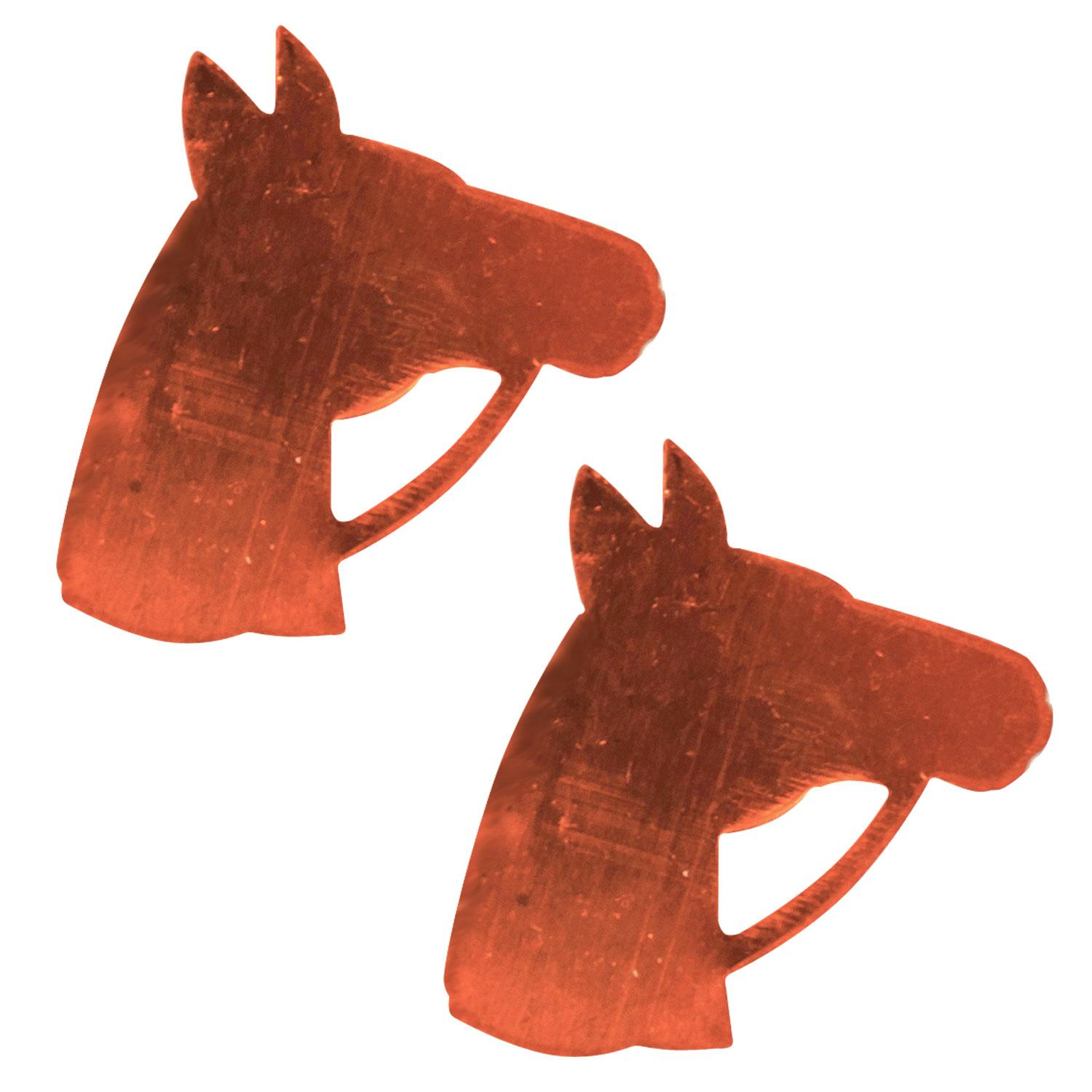 Horse Head Copper Shape - 2 Pack