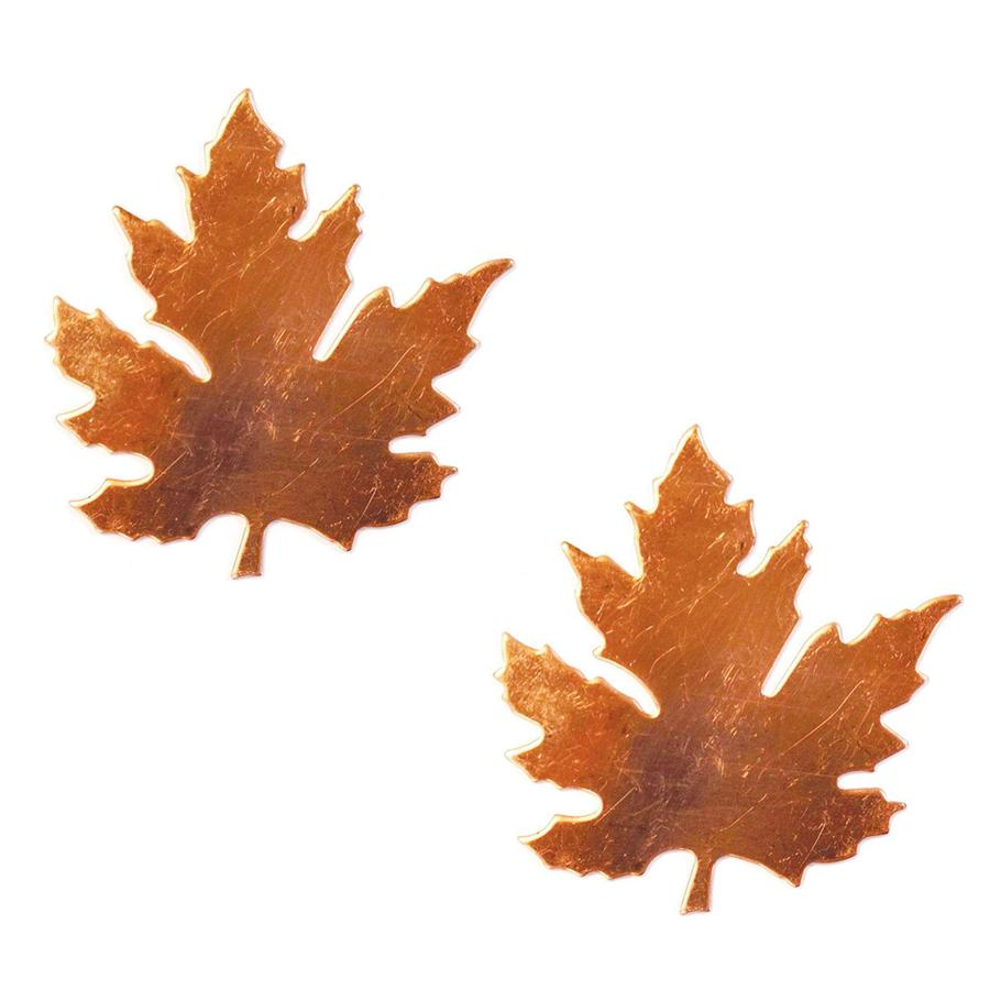 Medium Maple Leaf Copper Shape - 2 Pack