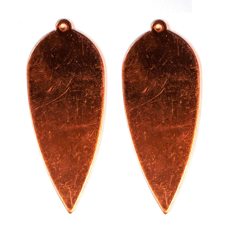 Medium Drop Leaf Copper Shape with Tab - 2 Pack
