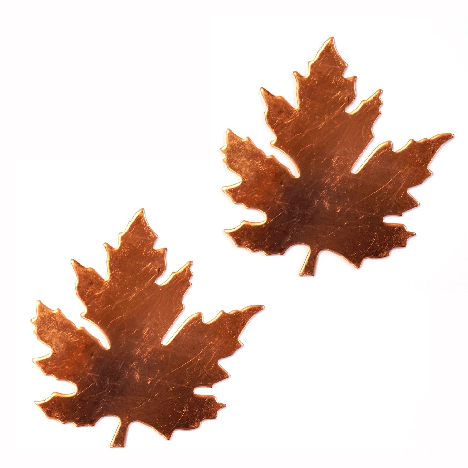 Large Maple Leaf Copper Shape - 2 Pack