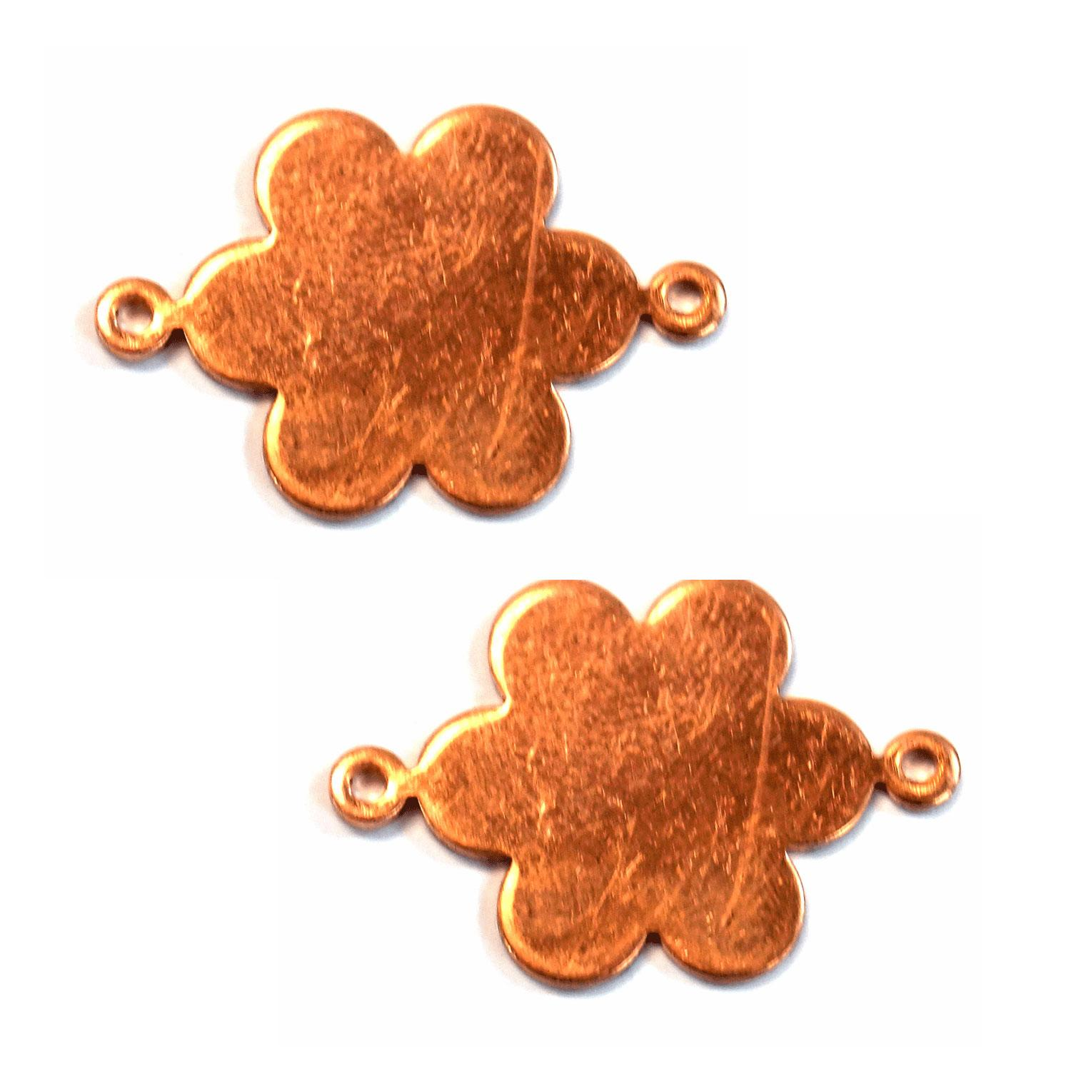 Medium Daisy Copper Shape with Tabs - 2 Pack