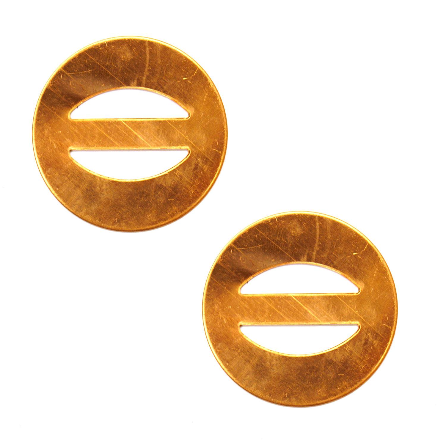Small Round Scarf Buckle Copper Shape - 2 Pack