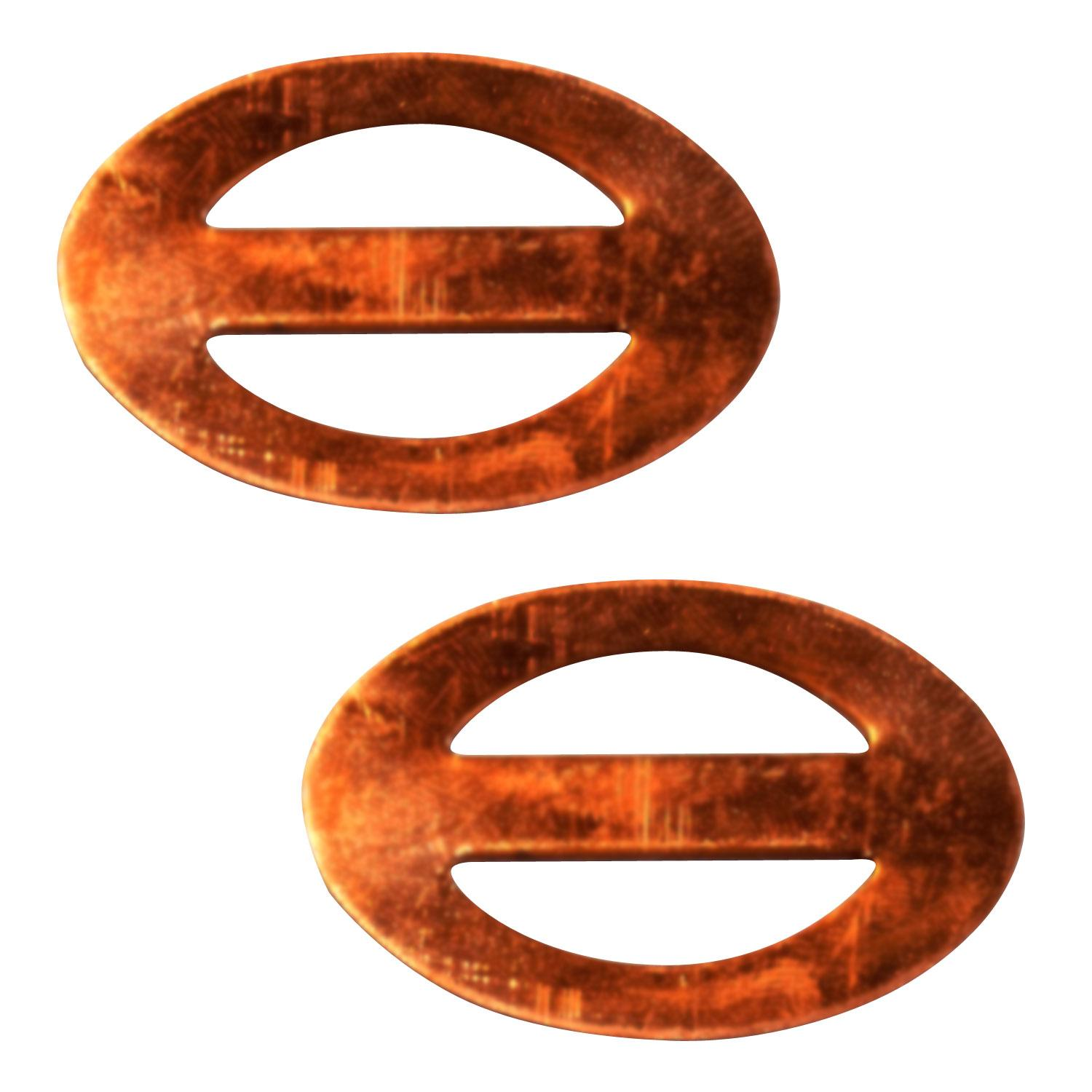 Oval Scarf Buckle Copper Shape - 2 Pack