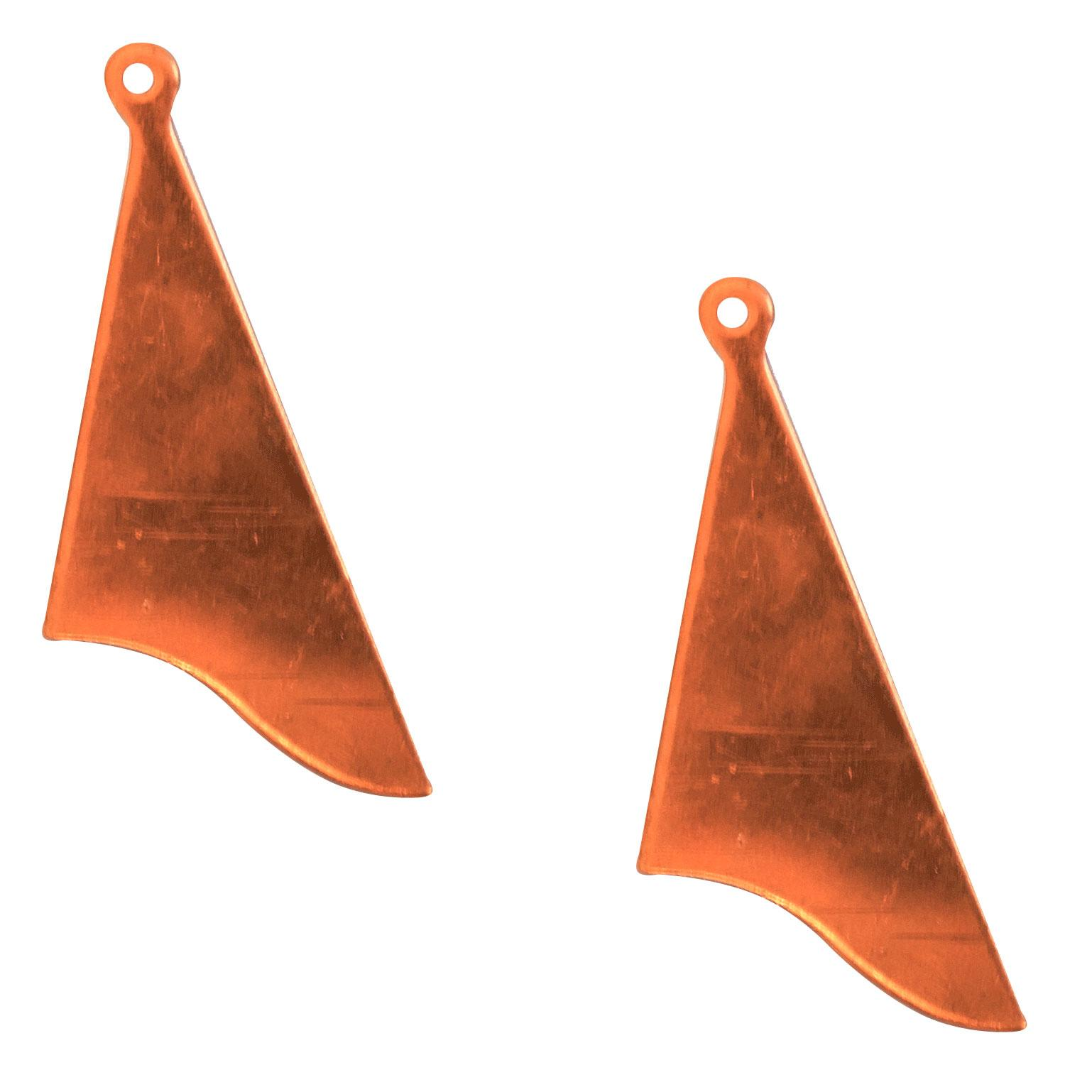Abstract Triangle Copper Shape with Tab - 2 Pack
