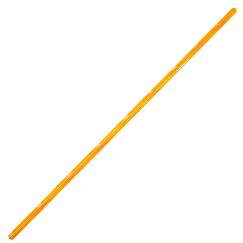 Tangerine Orange & Clear Ribbon Cane - 90 COE