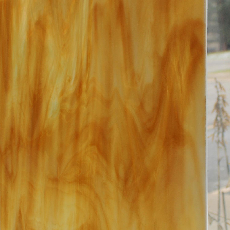 Oceanside Light Amber & White Translucent Streaky - 96 COE