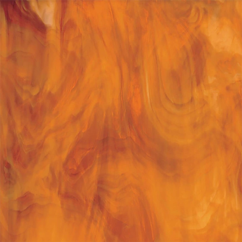Oceanside Medium Amber & White Translucent Streaky - 96 COE