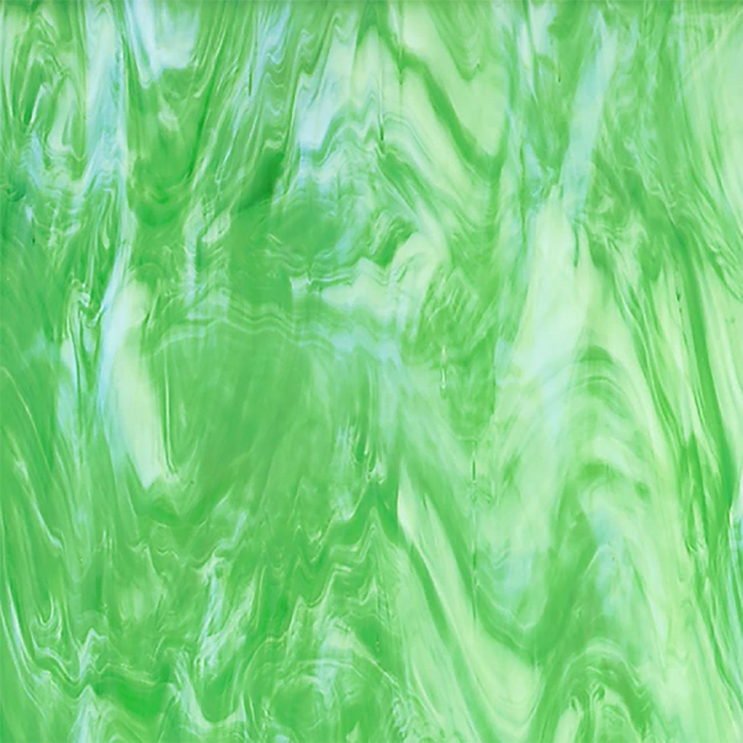 Oceanside Seafoam Green and White Translucent Streaky - 96 COE