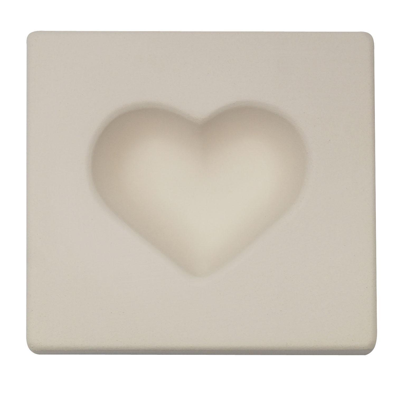 3-7/8 x 3-1/2 x 1-5/16 Heart Casting Mold