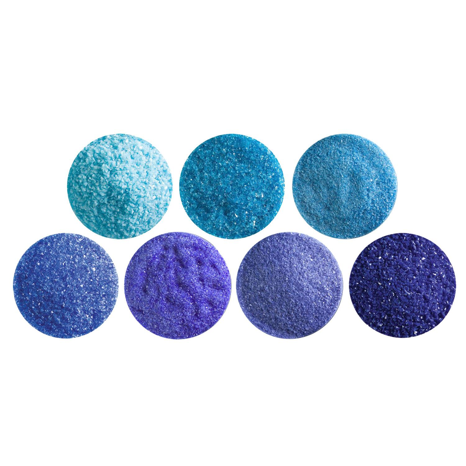 Bullseye Breathtaking Blues Frit Assortment - 90 COE