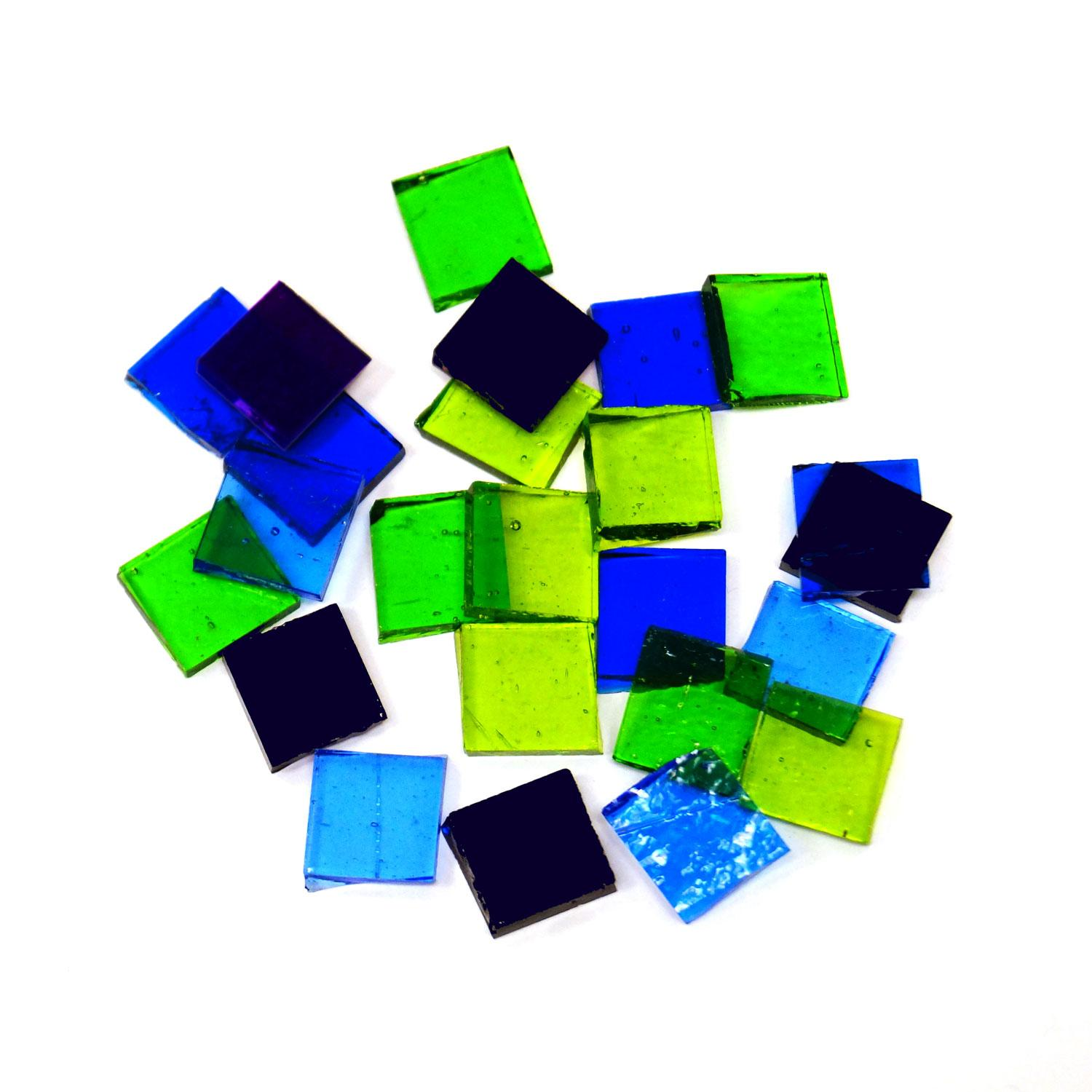 Fuseworks Cool Colors Squares 24 Piece Assortment - 90 COE