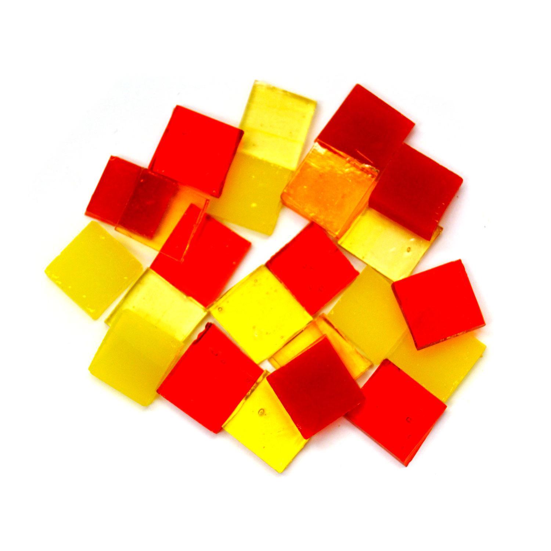Fuseworks Warm Colors 1/2 Squares 24 Piece Assortment - 90 COE