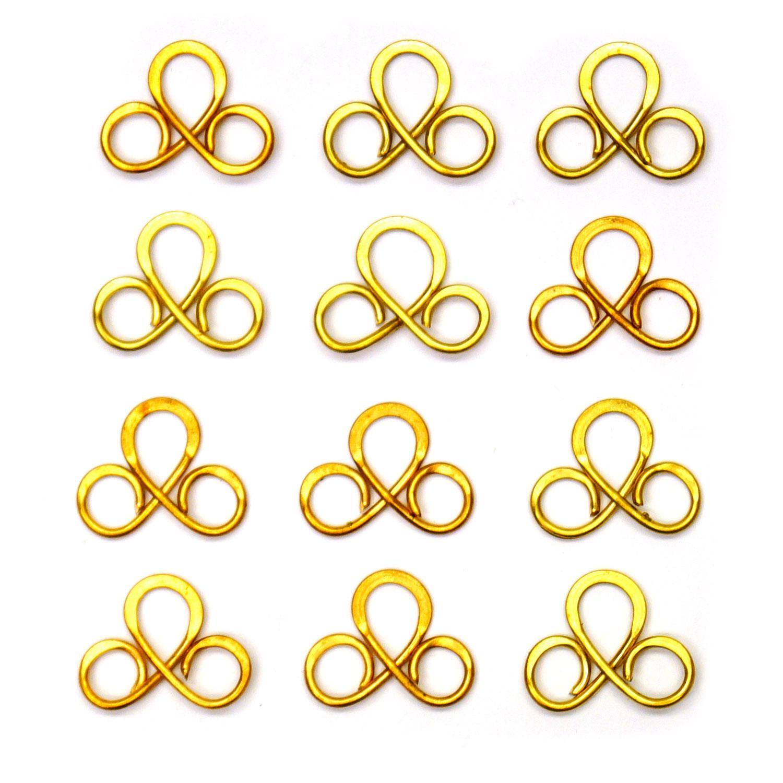 3 Loop Brass Hangers - 12 Pack