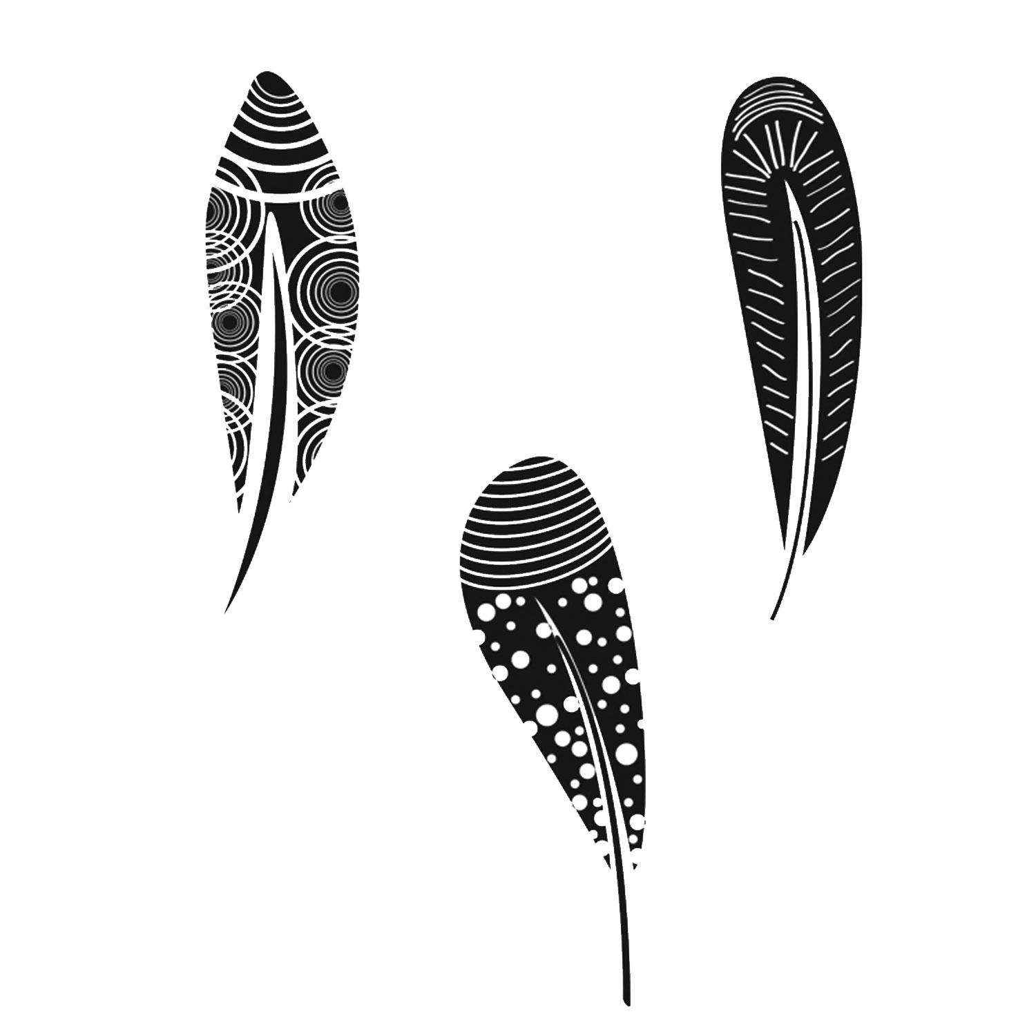 Fun Feather Decal Assortment