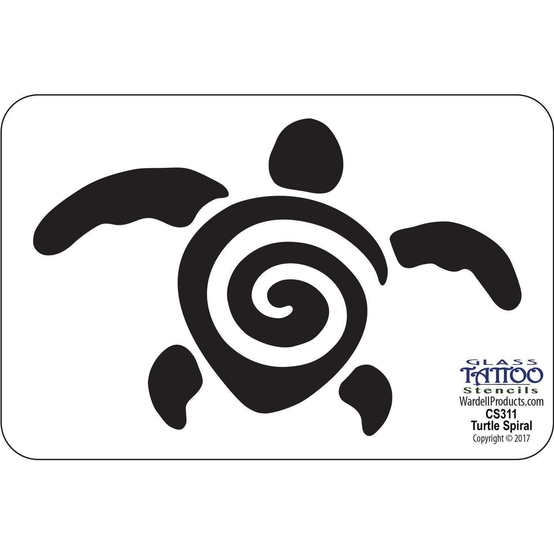 turtle spiral acrylic stencil