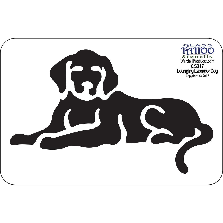 Lounging Labrador Dog Acrylic Stencil