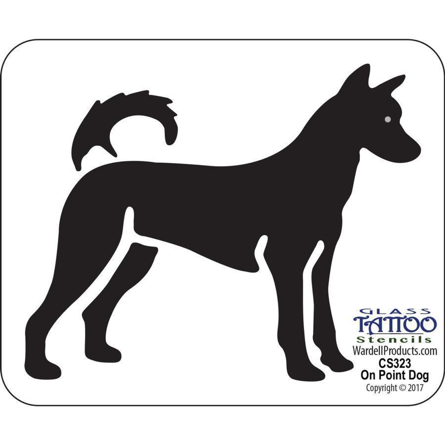 On Point Dog Acrylic Stencil