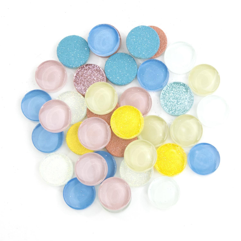 3/4 Round Cobblestone Lights Glass Gems - 1 Lb