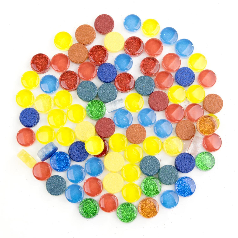 1/2 Round Cobblestone Brights Glass Gems - 1 lb