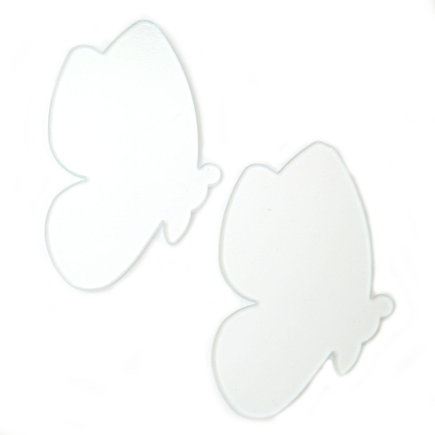 Clear Butterfly Fusible Pre-Cut Assortment 2 Pack - 90 COE