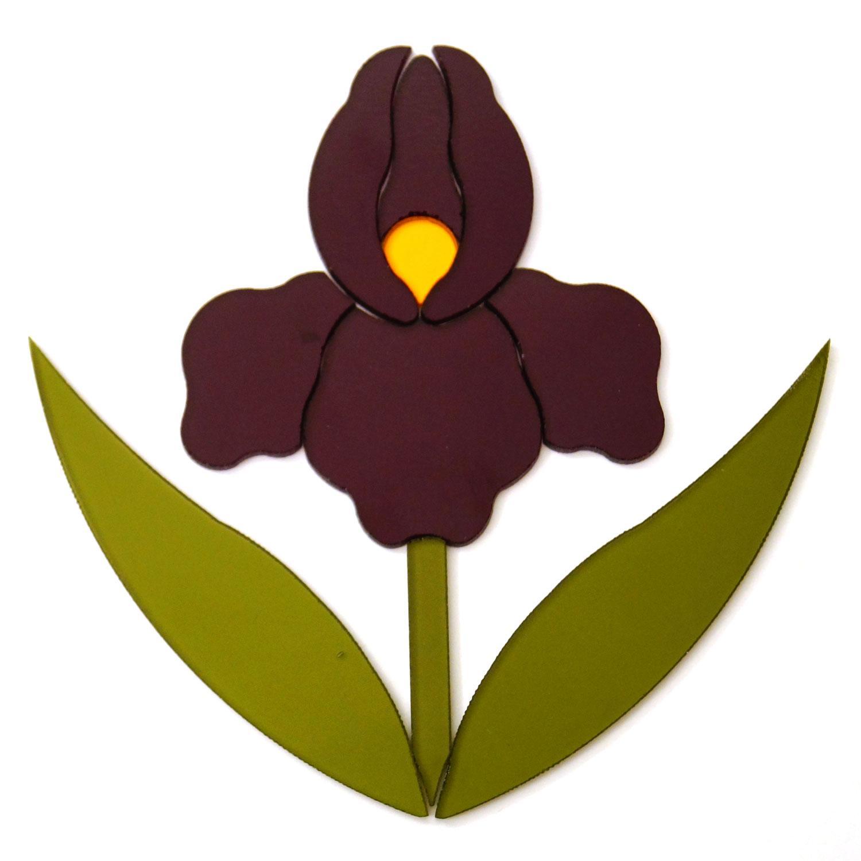 Purple Iris Fusible Pre-Cut - 96 COE