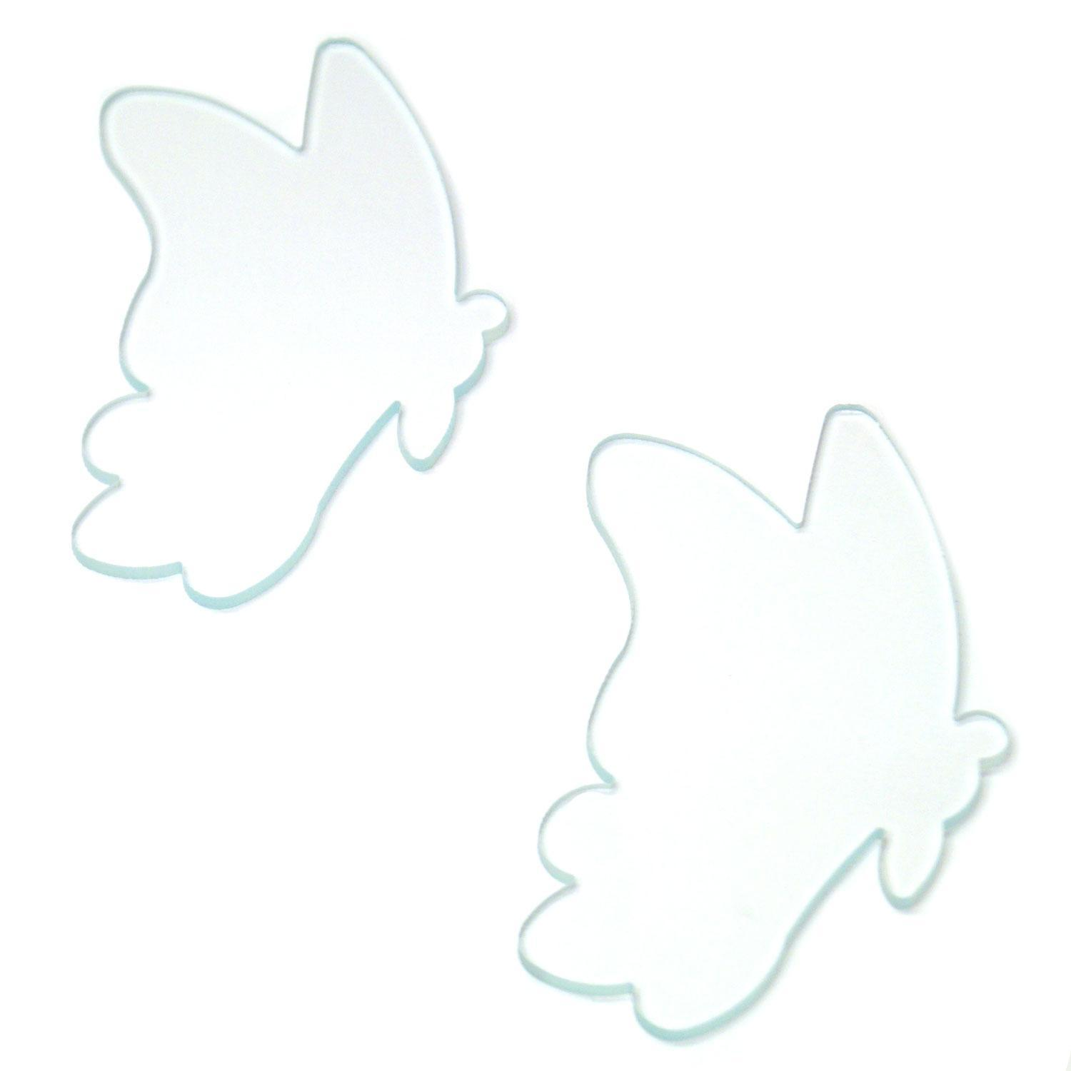 Clear Fancy Butterfly Fusible Pre-Cut Assortment 2 Pack - 96 COE