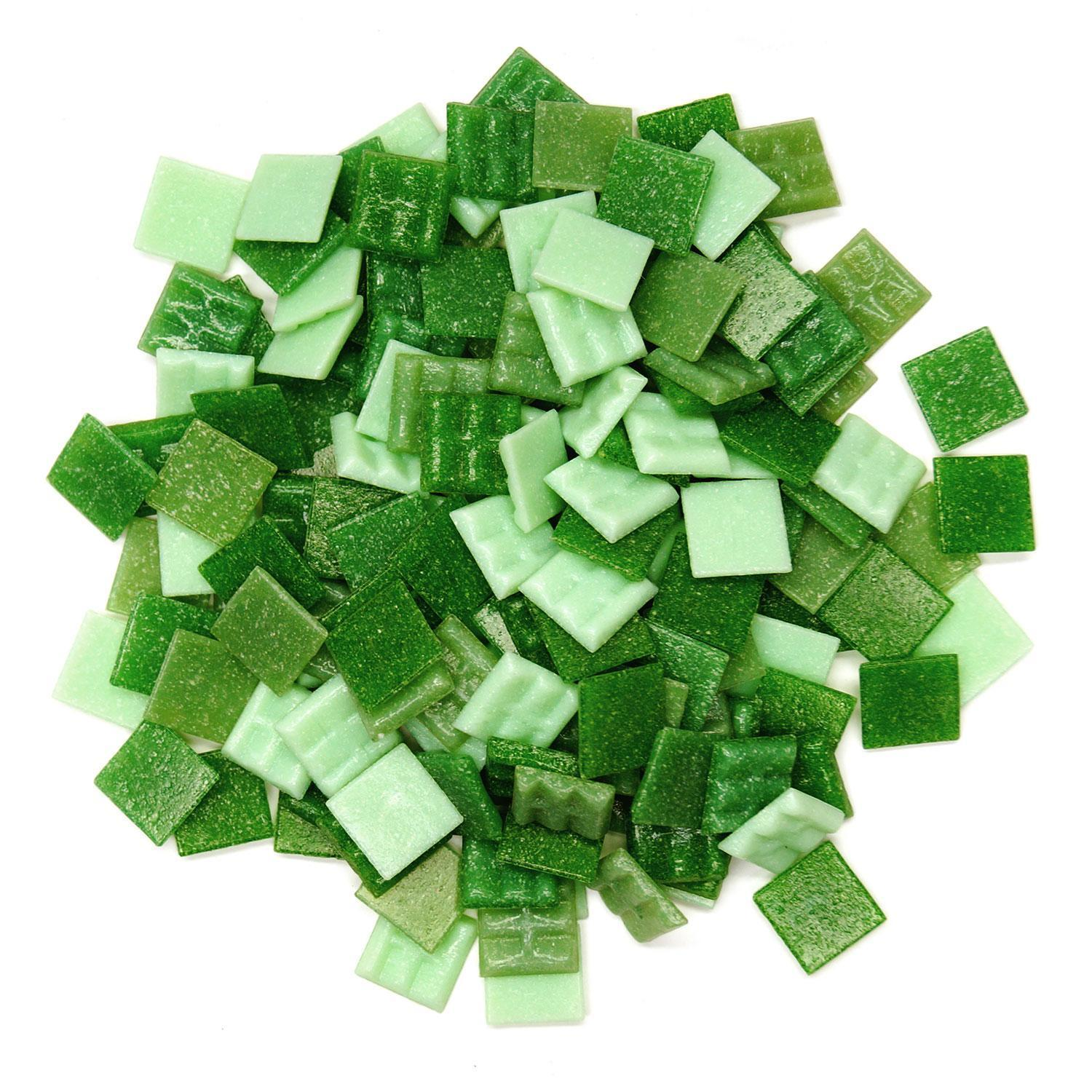 3/4 Grassy Greens Venetian Tile Mix 1 Lb