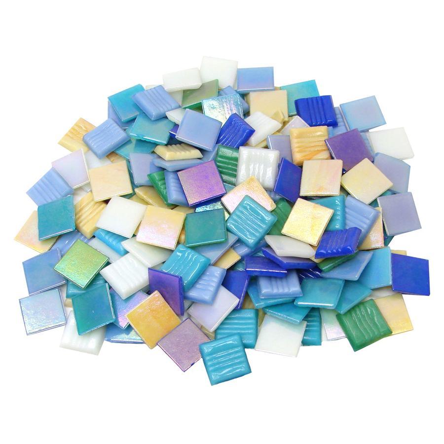 3/4 Iridized Glass Tiles Value Mix - 3 lb