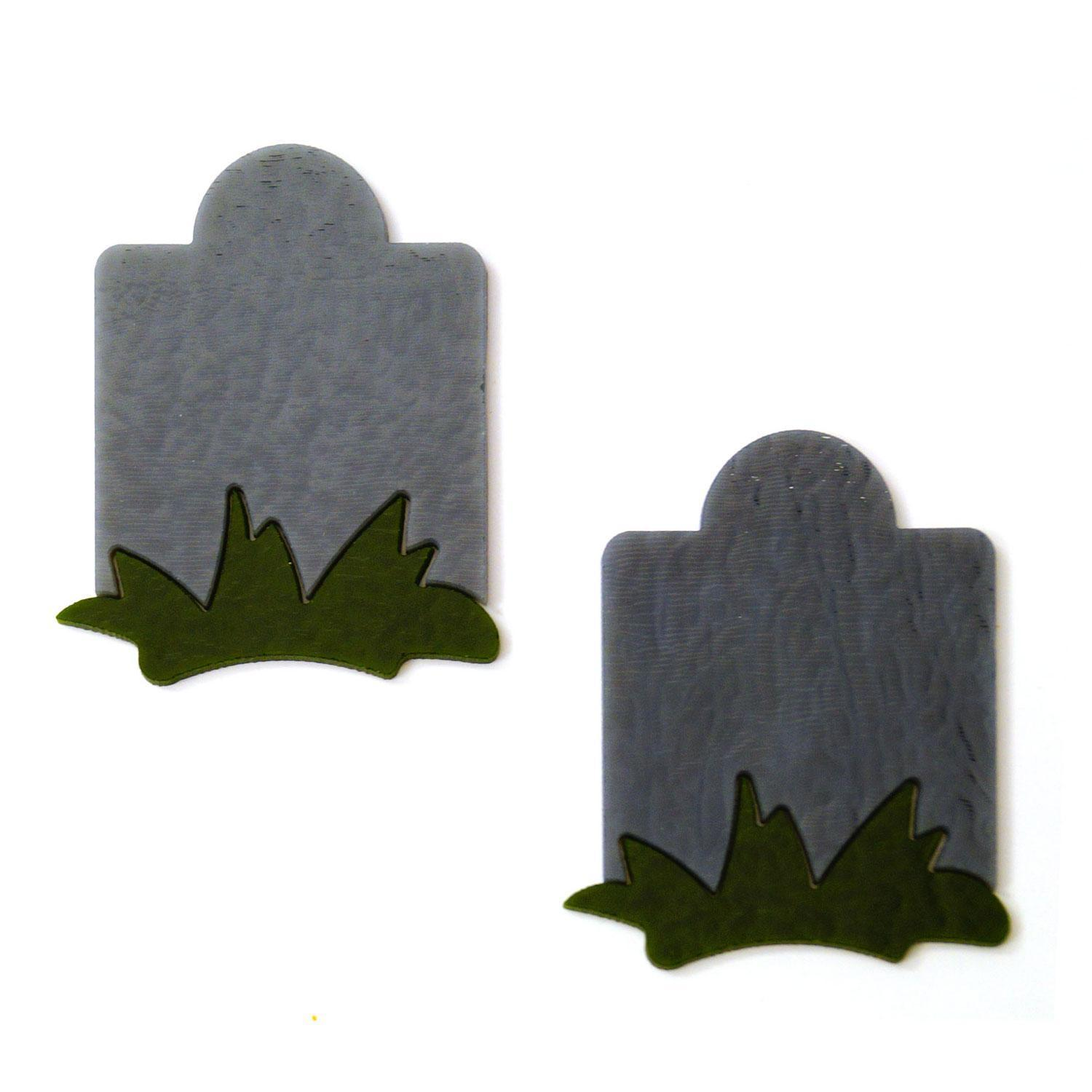 Gray Tombstone With Green Grass 2 Pack - 90 COE