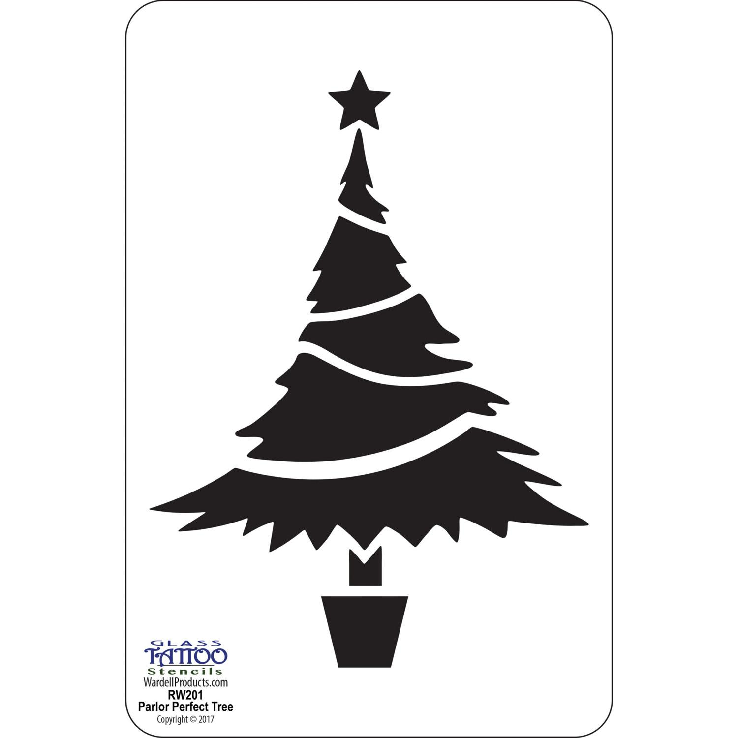 Parlor Perfect Christmas Tree Acrylic Stencil