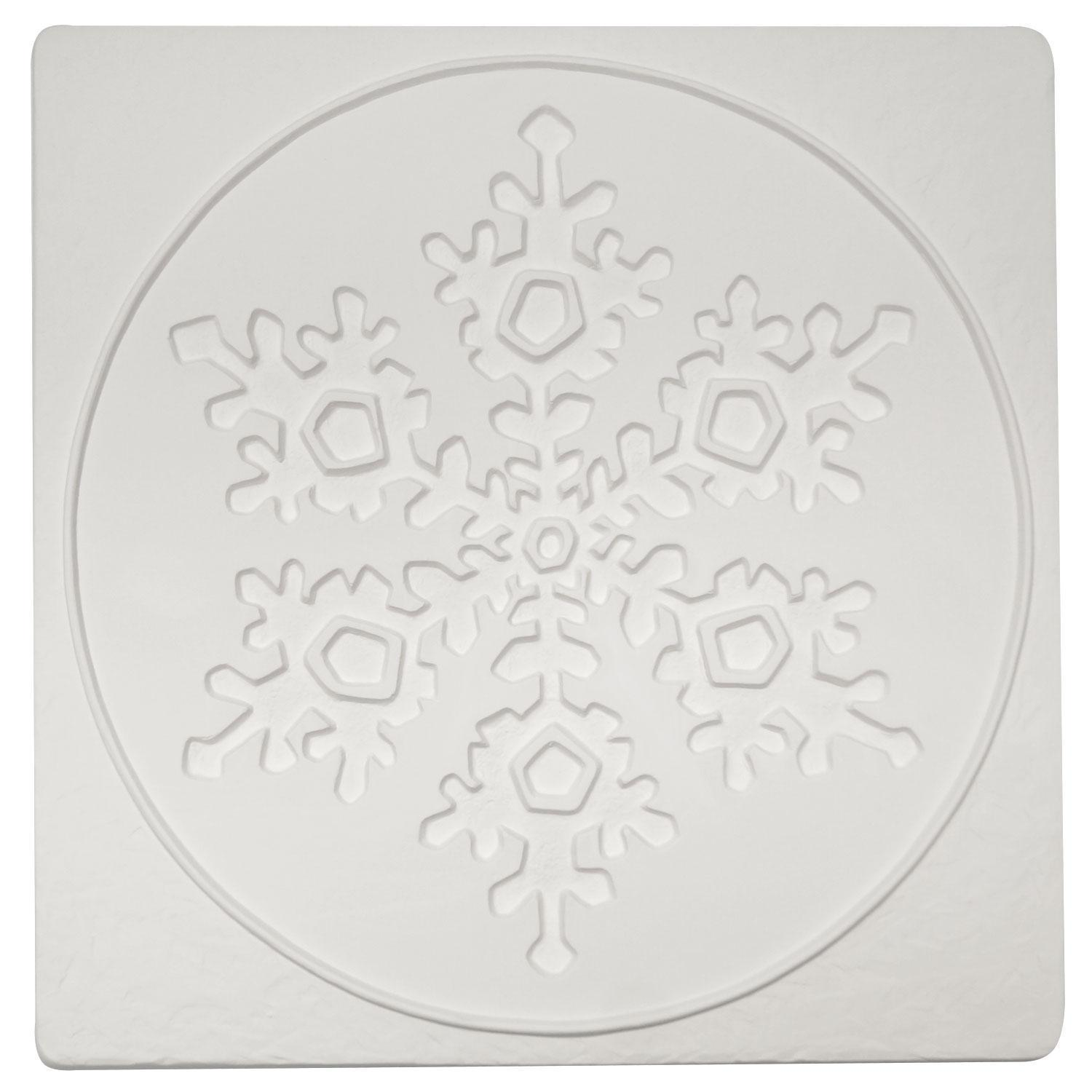 Snowflake in Square Texture Mold