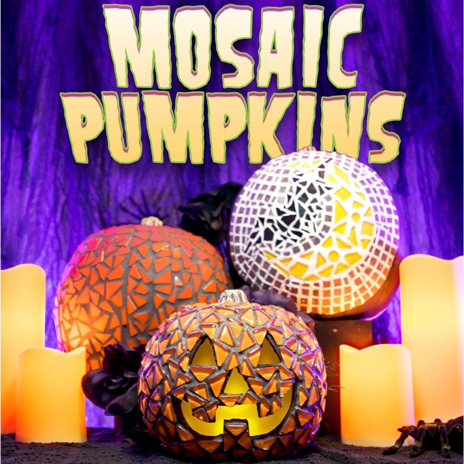 Free Mosaic Pumpkins Project Guide