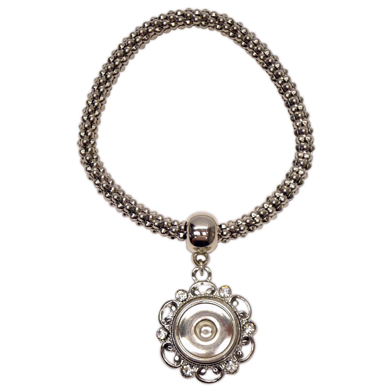 Metal Chain with Rhinestones Stretch Bracelet