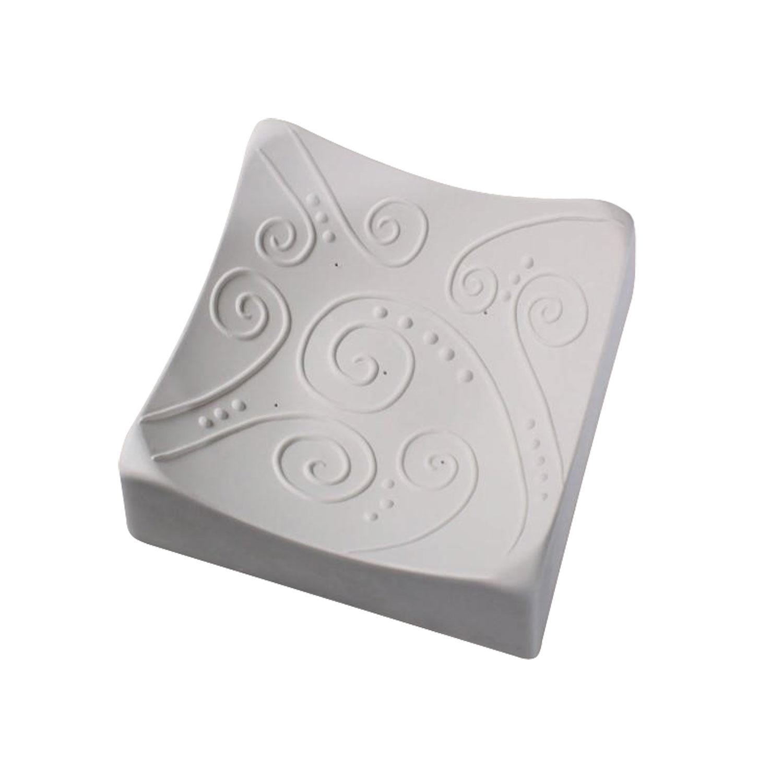 6-1/2 Square Swirl Texture Mold