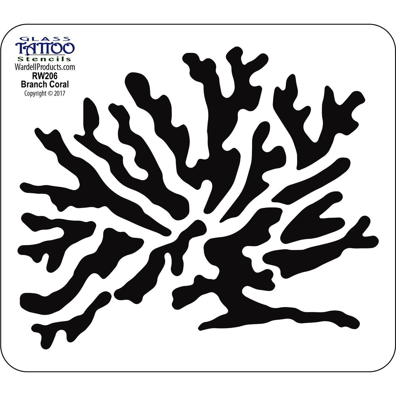 Branch Coral Acrylic Stencil