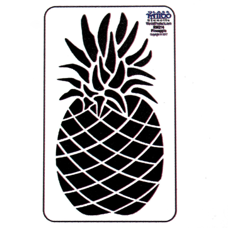 Pineapple Acrylic Stencil