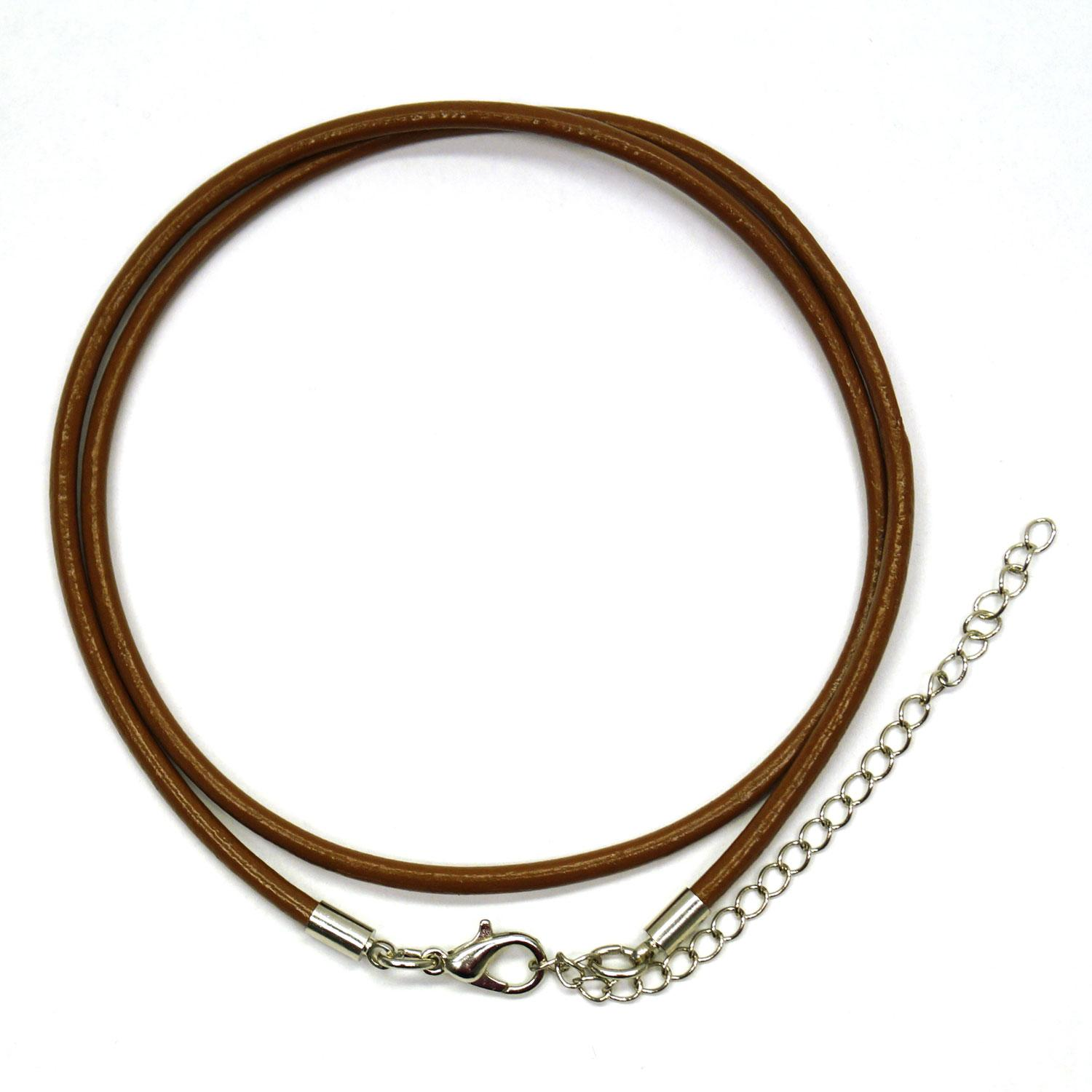 18 Brown Leather Cord Necklace - 8 Pack