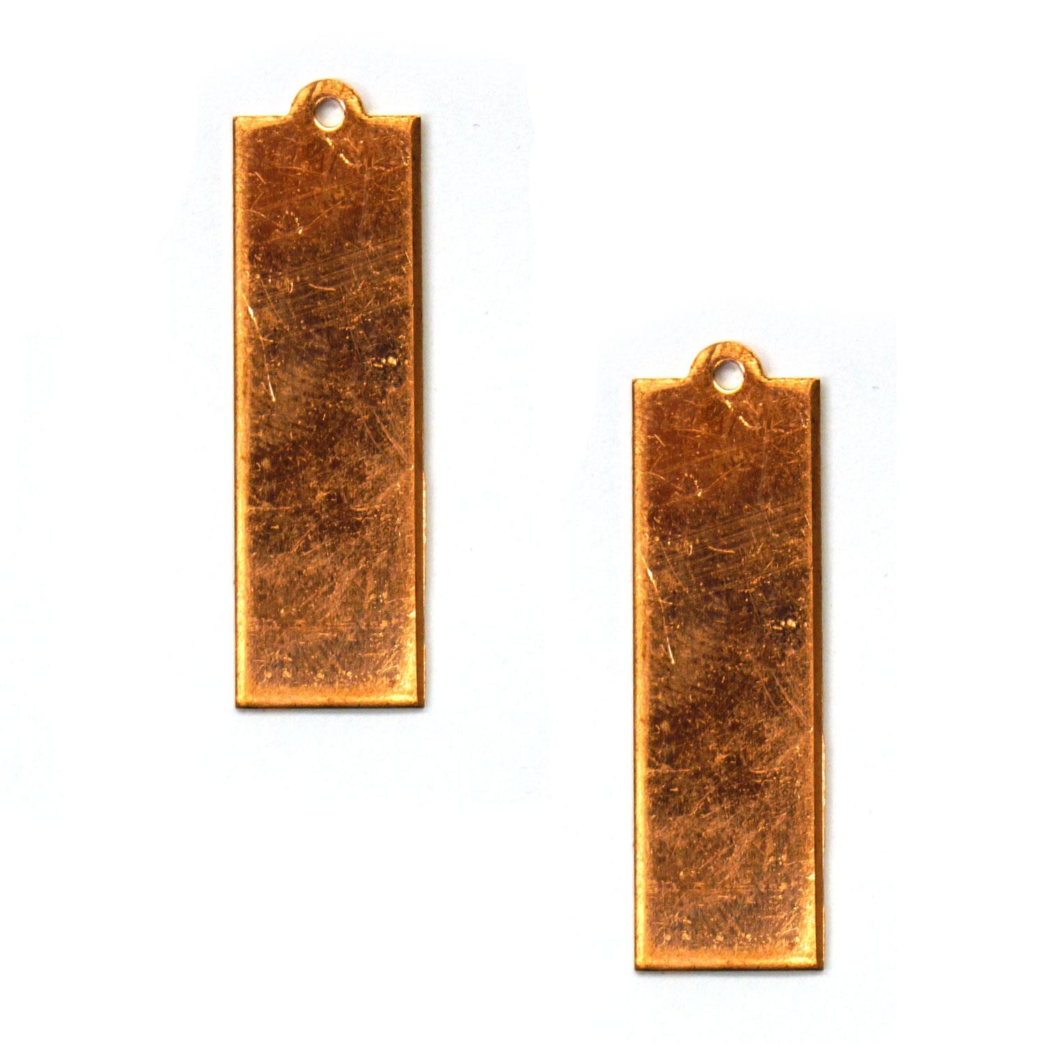 Slim Rectangle Copper Shape with Tab - 2 Pack