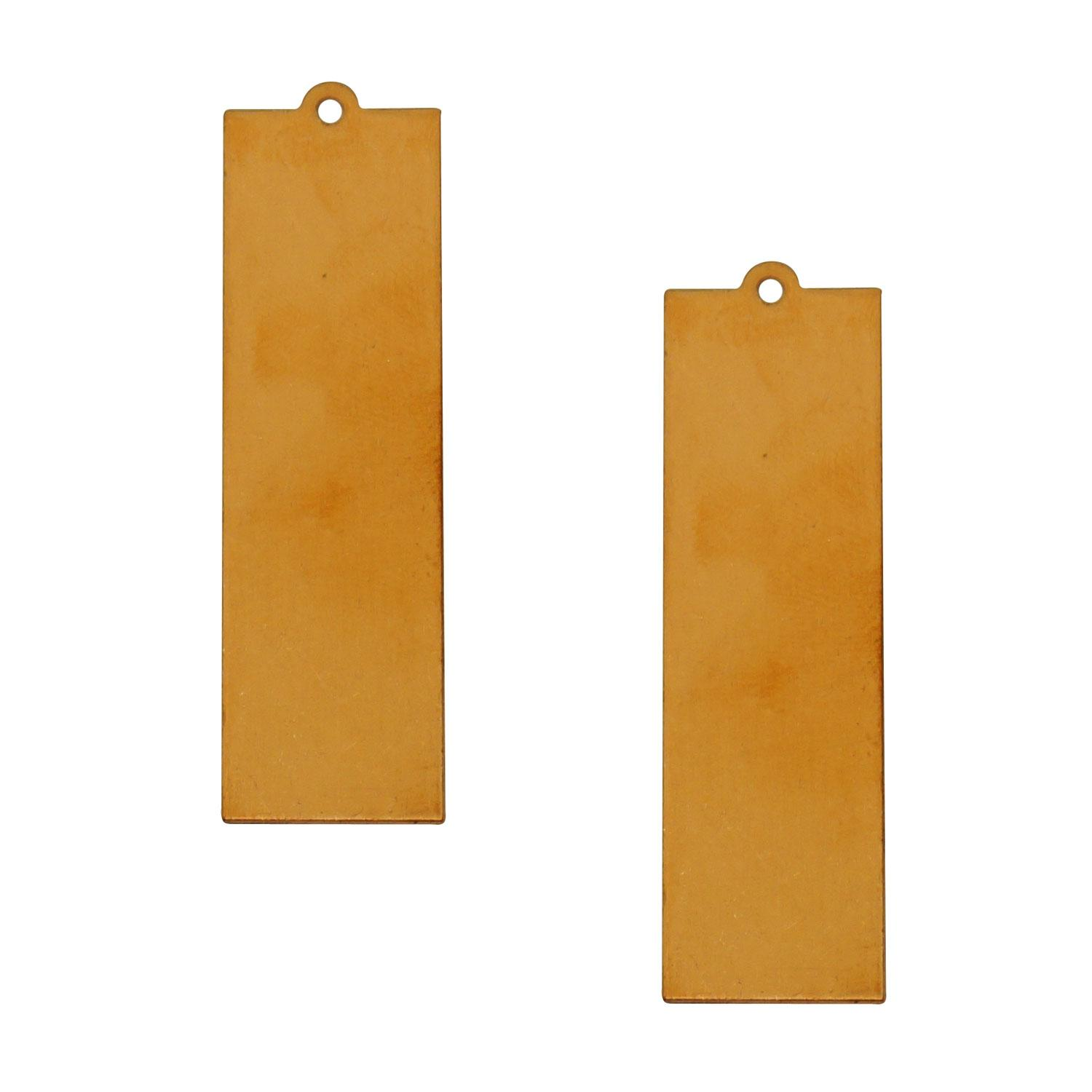 Large Slim Rectangle Copper Shape with Tab - 2 Pack