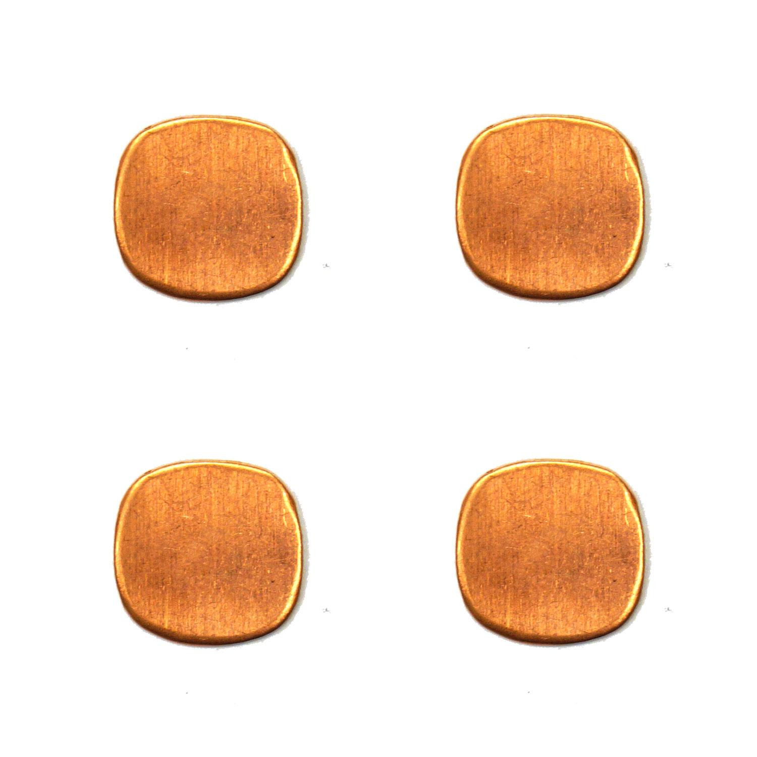 Small Rounded Square Copper Shape - 4 Pack