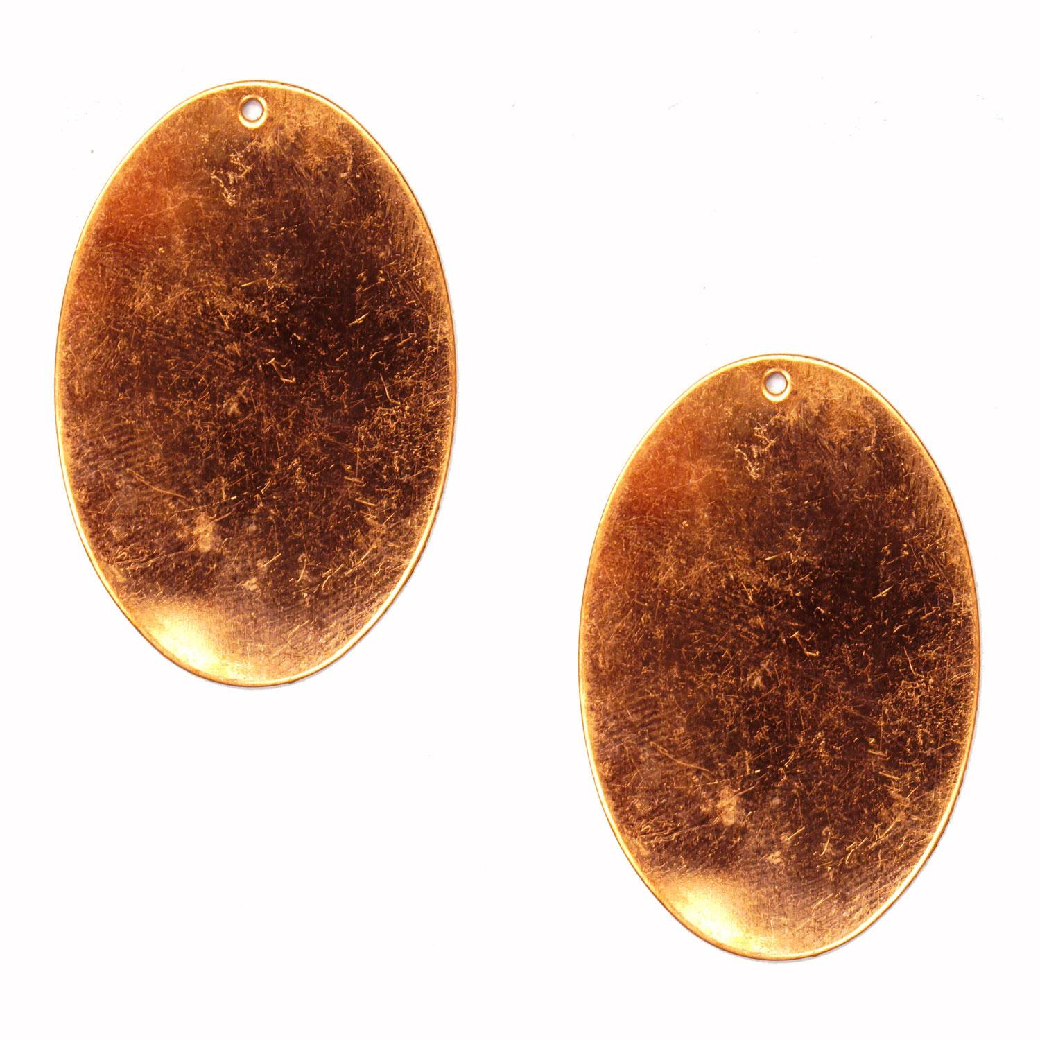 Oval Copper Shape with Hole - 2 Pack